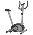 exercise bike isolated vector image vector image