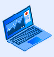 finance laptop icon isometric style vector image