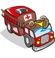 fire engine firefighter truck vector image vector image