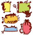 Funny cats frames for children vector image vector image