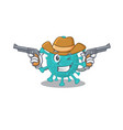funny corona zygote virus as a cowboy cartoon vector image vector image