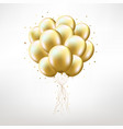 golden balloons vector image vector image