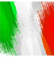 grunge background in colors italian flag vector image vector image