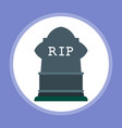 halloween tombstone icon sign symbol vector image