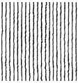 hand drawn stripe seamless pattern doodle black vector image vector image