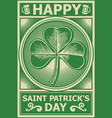 happy st patricks day poster vector image vector image