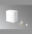 herbal tea packaging 3d realistic mockup vector image vector image