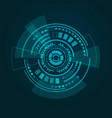 hud interface on dark blue gradient background vector image