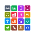 Icons of products categories White and color vector image vector image