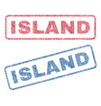 island textile stamps vector image vector image