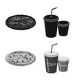isolated object of pizza and food icon set of vector image