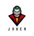 joker logo vector image