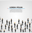 large group of businessman background vector image vector image