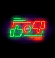 like or dislike neon on dark vector image