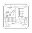 Line interior of baby room vector image