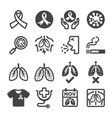 lung cancer icon vector image vector image