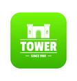 luxury tower icon green vector image vector image