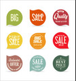 modern badges collection 4 vector image vector image