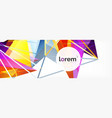 modern geometric background poster template with vector image