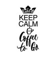 modern pred aper art banner with keep calm coffee vector image vector image