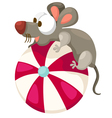 mouse with ball vector image vector image