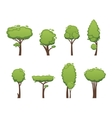 Nature cut tree collection elements vector image vector image