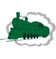Old locomotive-1 vector image vector image