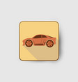 orange car icon vector image