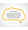 Pencil in the form of clouds for presentations or vector image vector image
