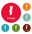 portugal map in black simple vector image vector image