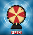realistic 3d spinning fortune wheel isolated vector image vector image
