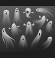 realistic ghosts transparent different halloween vector image vector image