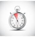 Realistic Stopwatch vector image vector image