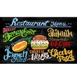 Retro vintage style fast food design lettering vector image