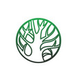 save nature logo icon vector image