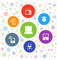 screen icons vector image vector image