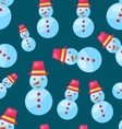 Seamless Christmas pattern snowman vector image vector image
