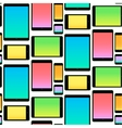Seamless Pattern made with Mobile Devices colorful vector image vector image