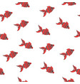 seamless sea pattern with animal red fish vector image