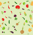 seamless wallpaper pattern with varous vegetables vector image