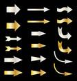silver and gold metallic arrows vector image