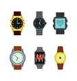 smartwatch icon set flat style vector image vector image