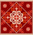 snowflake ornament in ethnic style vector image vector image