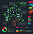 stylish infographics with a tree for a specific vector image vector image