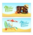 Summer travel banners vector image vector image