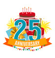 template 25 years anniversary congratulations vector image