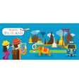 Tourist Travel Thailand Flat Design vector image