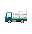 truck with glass on a white background vector image