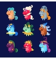 Unicorns In Disguise Set vector image vector image
