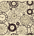 vintage clock pattern old retro watches vector image vector image